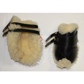 Kavalkade fetlock boot Selection - leather with lambskin