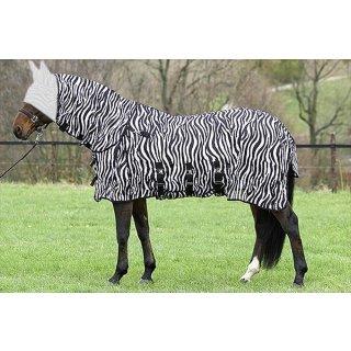 Euroriding Fliegendecke Zebra - Halsteil abnehmbar