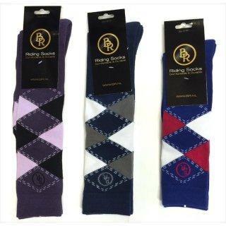 Bieman de Haas knee socks Highland - check