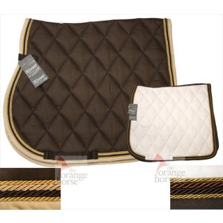Equest Saddle Pad Cotton Basic Premium - with 4 cords